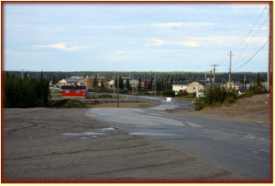 View from the main road leading into town.