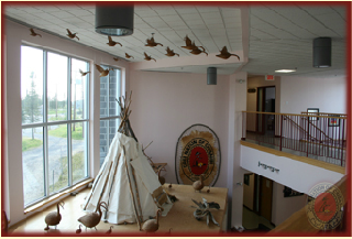 Inside of the Administration Building.