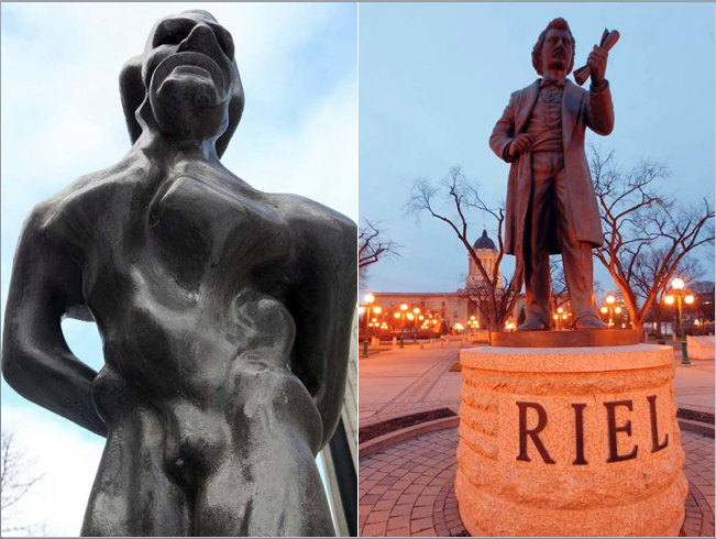 Louis Riel, Comparative Statues